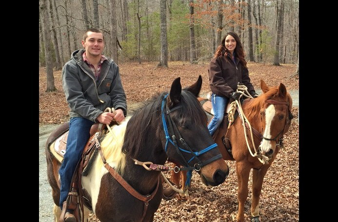 Recent Guest Proposal...On Horseback!